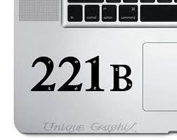 Sherlock On Etsy A Global Handmade And Vintage Marketplace Laptop Stickers Address Decals Computer Sticker