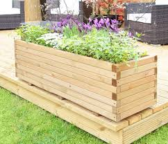 l1 2m pine raised trough planter
