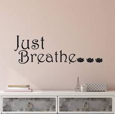 Vinyl Wall Decal Stickers Quote Words Inspiring Meditation Room Just B Wallstickers4you