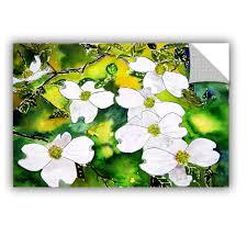 Artappealz Derek Mccrea Dogwood Tree Flowers Removable Wall Art Walmart Com Walmart Com
