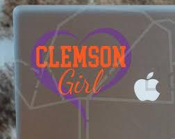 Clemson Car Decal Etsy