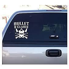 Amazon Com Bullet Club Skull Wrestling Wrestler White Vinyl Decal Bumper Computer Sticker Cling Everything Else