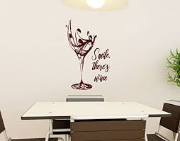 Amazon Com Smile There S Wine Vinyl Wall Words Decal Sticker Graphic Handmade