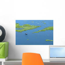 Lonely Fisherman Wall Decal Wallmonkeys Com