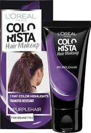 paris colorista hair makeup purple
