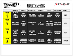 insanity workout schedule smart