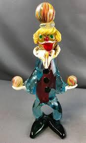 murano glass clown juggling