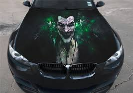 Vinyl Car Hood Full Color Sticker Graphics Decal The Joker Villain Arkham Ebay
