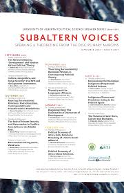 Subaltern Voices Series Speaking & Theorizing from the ...