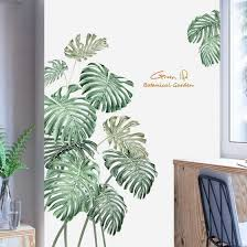 Shop Diy Beach Tropical Palm Leaves Wall Stickers Modern Art Vinyl Decal Wall Mural Online From Best Bedspreads Coverlets On Jd Com Global Site Joybuy Com
