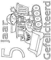 Kids N Fun Kleurplaat Bob De Bouwer Verjaardag Bob En Muck 5 Jaar
