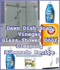 dawn dish soap vinegar glass shower