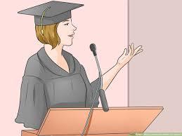how to write a graduation thank you speech steps