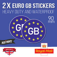 Legal Gb Car Sticker Sign Decal Eu European Road Badge Vinyl Bumper Weatherproof Archives Midweek Com