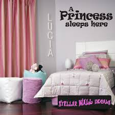 A Princess Sleeps Here Child Teen Wall Decals Wall Quotes Wall Murals Ct039aprincessvii Swd