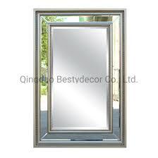 rectangular home hanging framed mirror