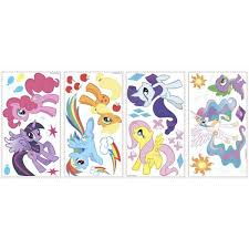 Roommates 11 5 In Multi Color My Little Pony Peel And Stick Wall Decals Rmk2498scs The Home Depot