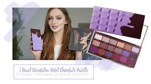 fioletowa czekoladowa paleta cieni i