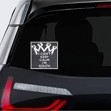 Amazon Com Makoroni I Cant Keep Calm Im South African Car Magnet Magnetic Bumper Sticker 4 5x4 5 Or 7x7 Inc Automotive