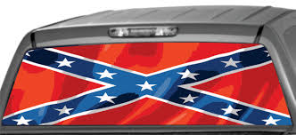 Rear Window Graphics Confederate Flag