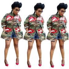 women long sleeves sequins lip print