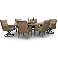 piece barnwood patio dining set