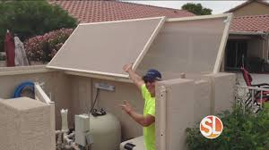 Sun Away Outdoor Shades Protects Your Pool Pump Youtube