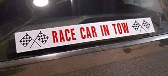 Amazon Com Race Car In Tow Window Decal Sticker Nostalgia Vintage Dragstrip Track Trailer Tow Hot Rod Muscle Car Gasser Nhra Super Stock Fits Ford Chevy Dodge Plymouth Hemi Pontiac Chevelle Cutlass Olds