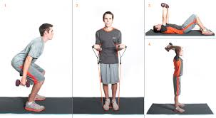 squat with bicep curl chest press