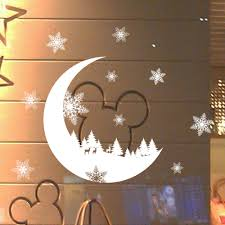 Big Offer Bd99d0 New Year Window Glass Pvc Wall Sticker Christmas Diy Snow Moon Wall Stickers Removable Home Decor Decal For Christmas Decoration Cicig Co
