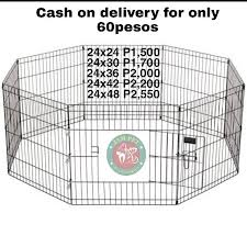 Dog Cage Playpen Fence 8panel Pets Supplies Pet Accessories On Carousell