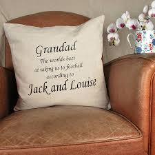 grandad birthday present cushion by