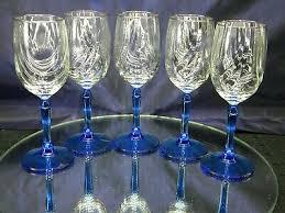 swag dd goblets glasses gold rim