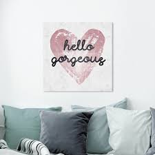 Shop Oliver Gal Typography And Quotes Wall Art Canvas Prints Gorgeous Salute Rose Custom Beauty Quotes And Sayings White Pink Overstock 30765122