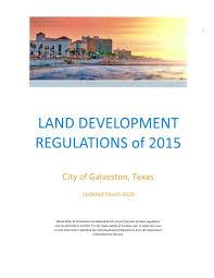 Land Development Regulations Of 2015