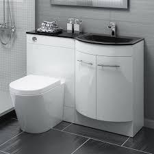 1200mm p shape bathroom vanity unit