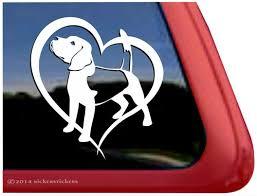 Beagle Dog Window Decal Nickerstickers
