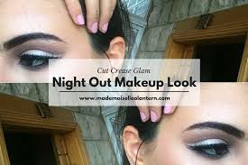 cut crease glam night out makeup look