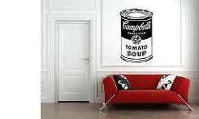 Andy Warhol Soup Tin Wall Art Decal Sticker Vinyl Kitchen Lounge Ebay