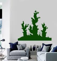 Vinyl Wall Decal Cactus Desert Plant Room Decoration Stickers Murals Ig4713 Ebay Vinyl Wall Decals Room With Plants Wall Decals