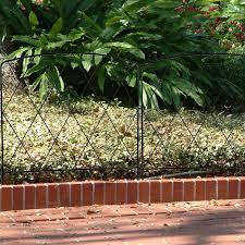 Garden Accents Common 0 24 In X 24 In X 28 In Actual 0 24 In X 24 In X 28 In Fence Black Steel Garden Edging In The Garden Fencing Department At Lowes Com