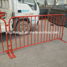 China Galvanized Safety Temporary Fence Heavy Duty Interlocking Steel Barricade China Heavy Duty Temporary Barricade Interlocking Steel Barricade
