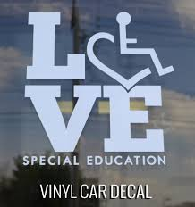 Love Special Education Car Decal By Love Special Education 3e Love S Wheelchair Heart