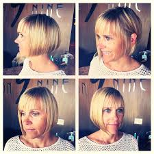 chic straight blunt bob haircut for