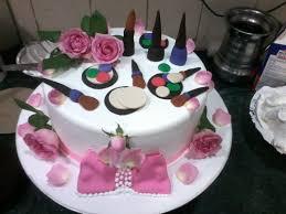 size round makeup birthday cake
