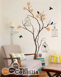 Baby Nursery Tree Wall Decal Tree Wall Sticker Mural Birdcage Etsy Baby Room Wall Wall Paint Designs Tree Wall Painting