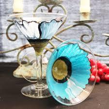 hand painted sangria wine glass 1