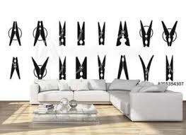 17 905 Clothespin String Clothes Line Wall Murals Canvas Prints Stickers Wallsheaven