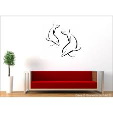 Dolphin Love Vinyl Wall Decal Art