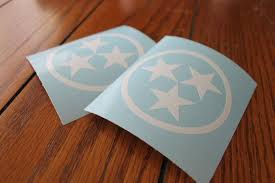 Tennessee Tri Star Sticker Car Decal Laptop Decal Star Stickers Monogram Vinyl Decal Laptop Decal